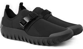 Prada Rubber-Trimmed Neoprene Sneakers