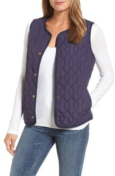 Caslon Women's Collarless Quilted Vest
