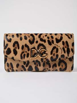 Dolce & Gabbana Leopard Print Wallet - BROWN - STYLE