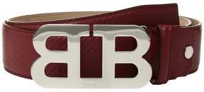 Bally Mirror B Adjustable Carbon Leather Belt Men's Belts