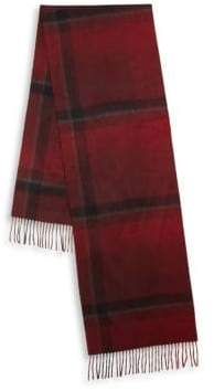 Hickey Freeman Ombre Exploded Plaid Cashmere Scarf
