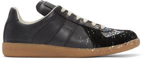 Maison Margiela Black Paint Splatter Replica Sneakers