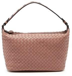 Bottega Veneta Ciambrino Intrecciato Leather Shoulder Bag - Womens - Dark Pink