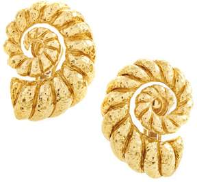 David Webb 18K Yellow Gold Coiled Rope Clip-on Earrings