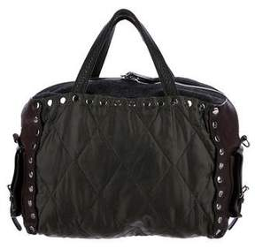 Marni Leather-Accented Quilted Nylon Satchel