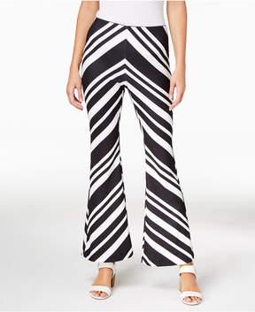 Bar III Printed Flare-Leg Pants, Created for Macy's