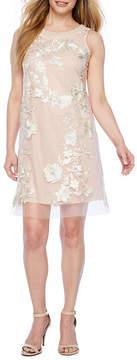 Studio 1 Sleeveless Floral A-Line Dress-Petites