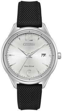 Citizen Chandler Silver Dial Ladies Silicone Watch FE6100-16A
