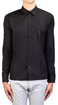 Christian Dior Men's Cotton Point Collar Dress Shirt Black