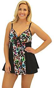 Fit 4 U Fit 4 Ur Thighs Havana Tie-Front DressSwimsuit