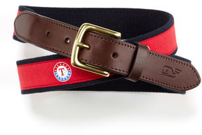 Vineyard Vines Texas Rangers Canvas Club Belt