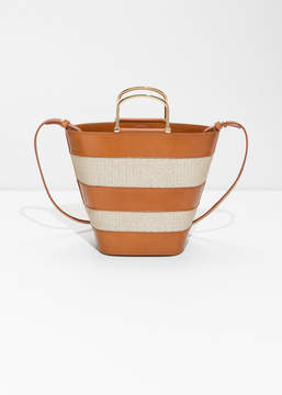 And other stories Woven Bucket Bag