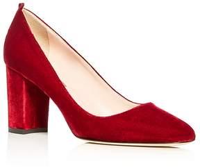 Sarah Jessica Parker Prosper Velvet Block Heel Pumps - 100% Exclusive