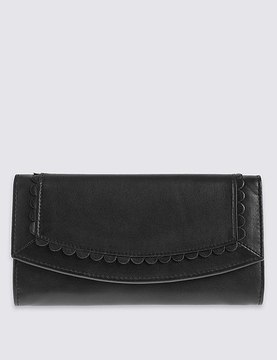 Leather Sunray Purse with CardsafeTM