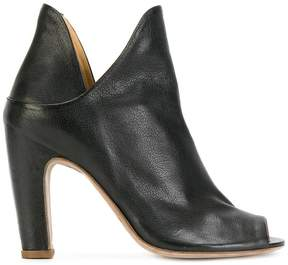Officine Creative open toe notched detail ankle boots