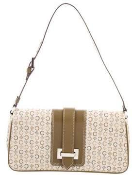 Celine Leather-Trimmed Woven Bag
