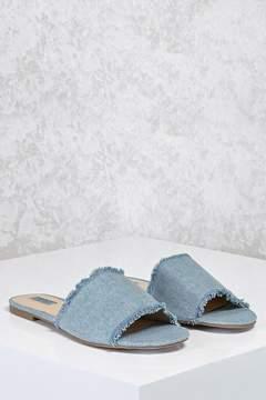 Forever 21 Denim Slide Sandals (Wide)