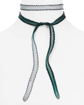 Chan Luu Dip Dyed Beaded Edge Necktie