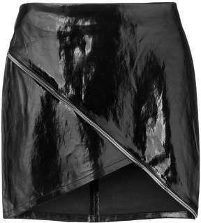 RtA asymmetric mini skirt with zip detail