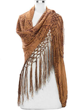 Patricia Nash Amelia Map Scarf with Tassel Edging