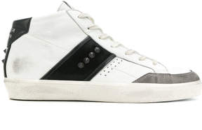 Leather Crown casual hi-top sneakers