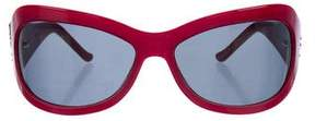 Judith Leiber Tinted Oversize Sunglasses