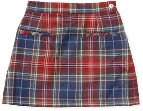 Oscar de la Renta Plaid Wool A-Line Skirt