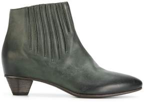 Roberto Del Carlo stitch detail ankle boots