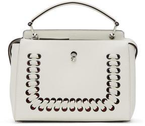 Fendi White Dotcom Click Bag