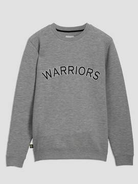 Frank and Oak Golden State Warriors Ottoman-Knit Crewneck in Grey