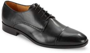Saks Fifth Avenue Made in Italy Men's Leather Cap Toe Dress Shoes