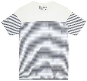 Hartford Striped Pocket Crew Neck T-Shirt