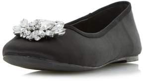 Head Over Heels *Head Over Heels by Dune Black 'Hiya' Flat Shoes