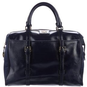 Tory Burch Robinson Leather Tote - BLUE - STYLE