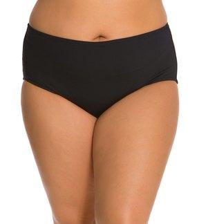 Anne Cole Plus Size Solids High Waist Tummy Control Bottom 8127755