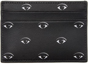 Kenzo Black Multi Eye Card Holder