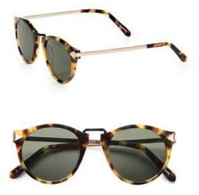 Karen Walker Helter Skelter Round Sunglasses/Crazy Tortoise