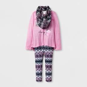 Self Esteem Girls' Long Sleeve Scarf Top - Pink