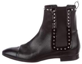 Christian Louboutin Spike Leather Ankle Boots