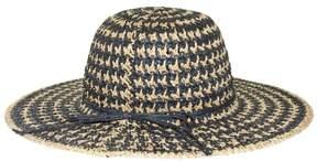 Nine West Womens Two Tone Straw Floppy Hat