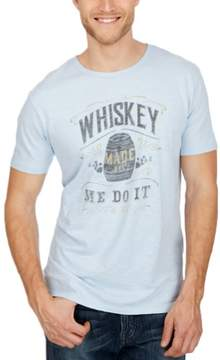 Lucky Brand New Apparel Whiskey Made Me Spring Blue S Mens Shirt