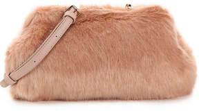 Urban Expressions Faux Fur Frame Clutch - Women's