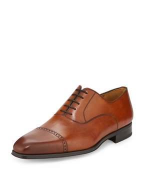 Magnanni Wolden Lace-Up Leather Oxford, Cognac