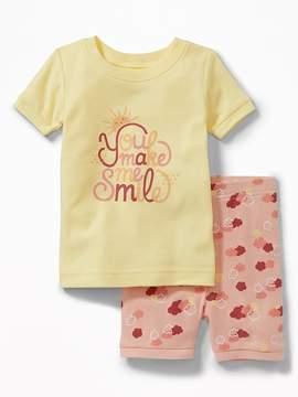 Old Navy You Make Me Smile Sleep Set for Toddler & Baby