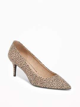 Old Navy Sueded Mid-Heel Pointy-Toe Pumps for Women