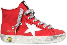 Golden Goose Deluxe Brand Francy Cotton Canvas High Top Sneakers