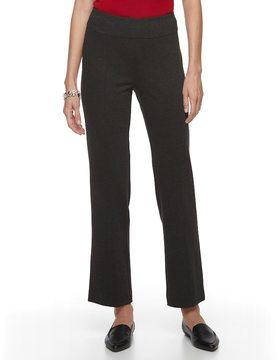 Dana Buchman Women's Wide Waist Ponte Pants