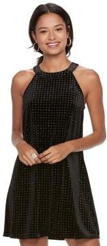 Candies Candie's Juniors' Candie's Velvet Embellished Halter Dress