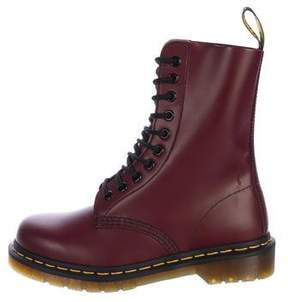 Dr. Martens Leather Combat Ankle Boots