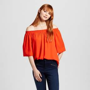 Mossimo Women's Off the Shoulder Woven